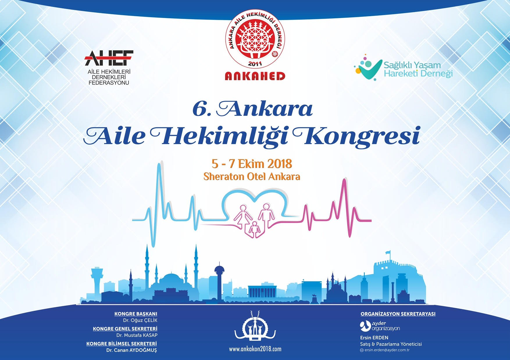 ANKAKON 2018 Kongresi 5-7 Ekim Sheraton Ankara'da